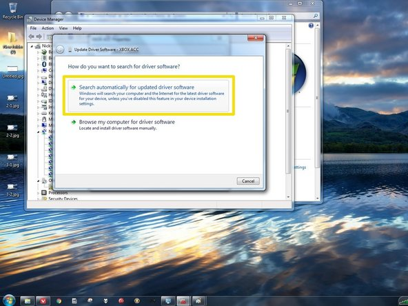 Windows 8.x: Right click the Windows icon in the task bar. Once you do this, find Device Manager.