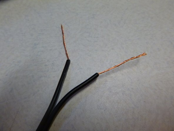 Seperate the two halves of each wire, and split the two with a utility knife. Don't go too far! You will need the extra space to overlay HeatShrink before the soldering is down.