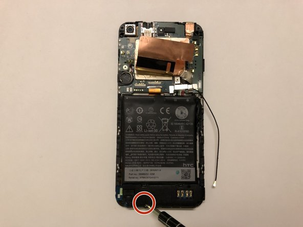 Use the screwdriver to remove the 1.2 mm screw at the bottom of the phone.