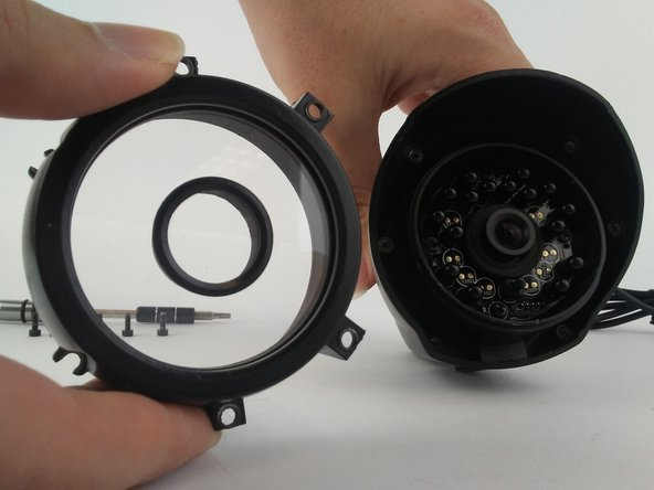 Remove the exterior lens cover.