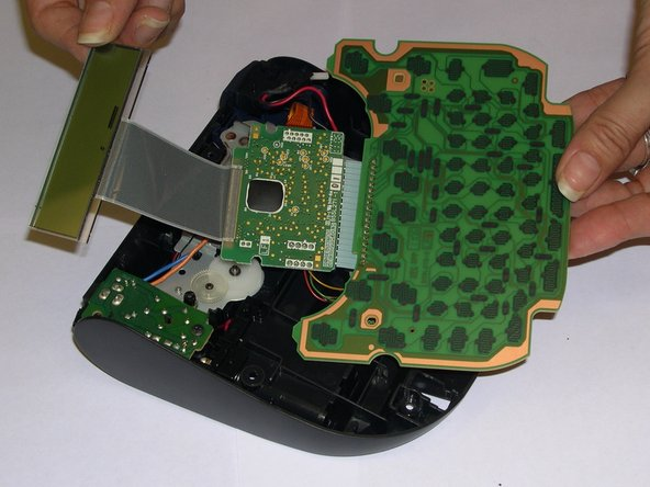 Remove and replace the LCD screen making sure the display data cable doesn't get damaged in the process.
