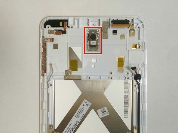 Upon removal of the front-face camera, flip your device to the side so the back-face camera faces you.