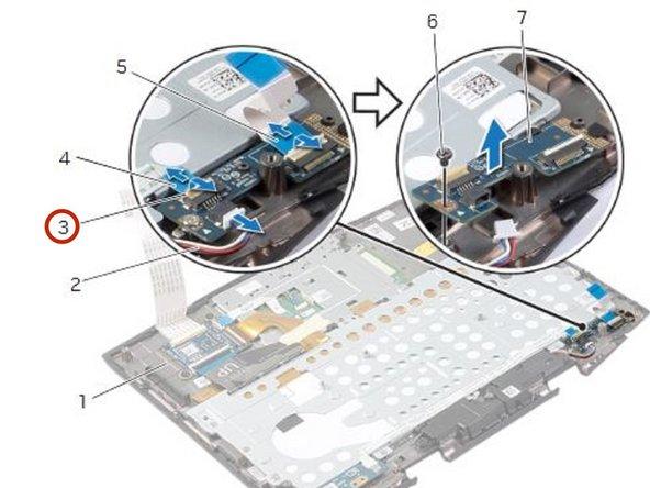 Dell Alienware 14 Reemplazo de placa de luz de estado