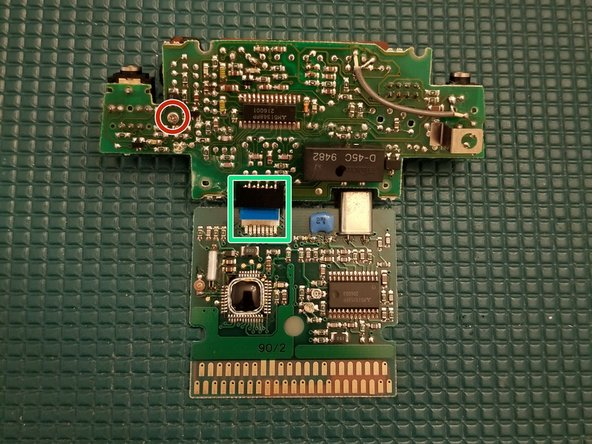 Flip the PCBs over with the back side facing you.