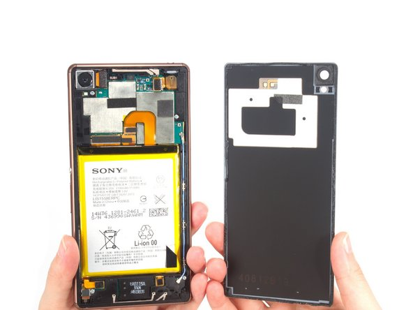 Remove the back cover easily. It comes with camera lens and NFC.
