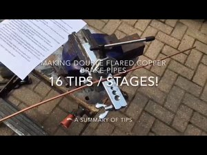 How to Brake pipes - lots of tips!