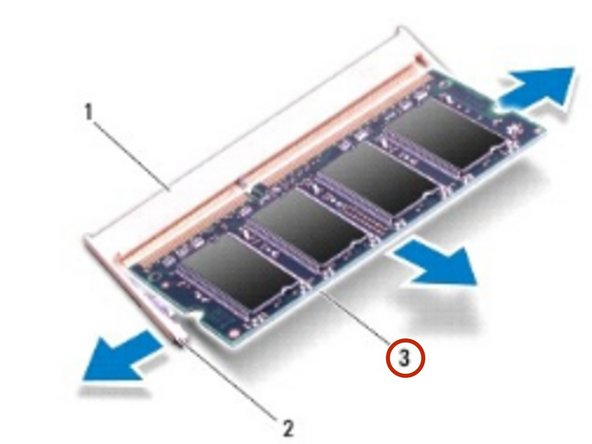 Remove the memory module from the memory module connector.