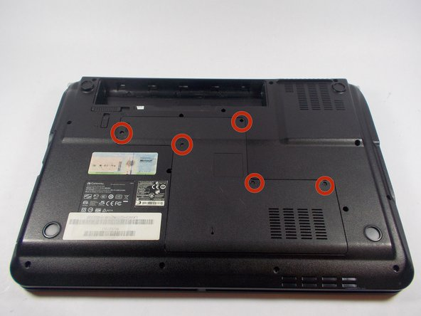Use the Phillips head screwdriver to remove the five screws holding the back plate.