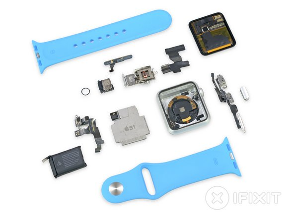 Image 1/2: While not an industry standard, the watch band is easily removed and swapped out for a replacement.