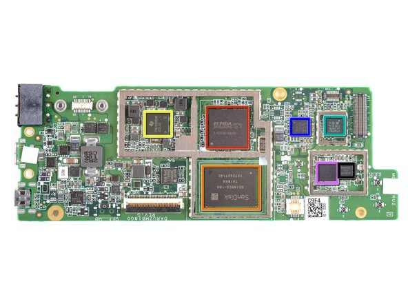 Image 1/1: Front view of the motherboard. If you want the super-huge version of the motherboard, [http://guide-images.ifixit.net/igi/QSDdyTYrFUm3ngwD|click here].