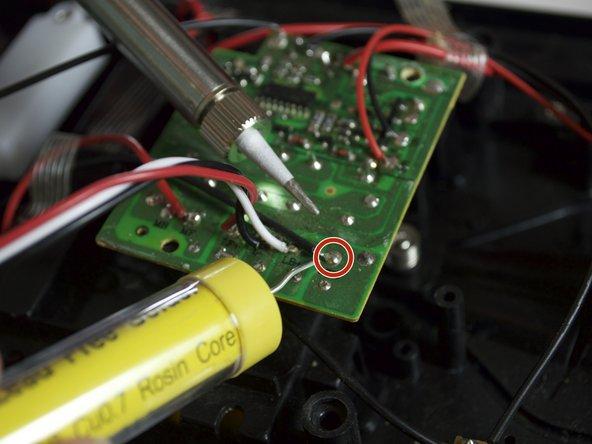Solder the existing wires. Solder the new wires from the new motherboard to the preexisting wires that you cut before.