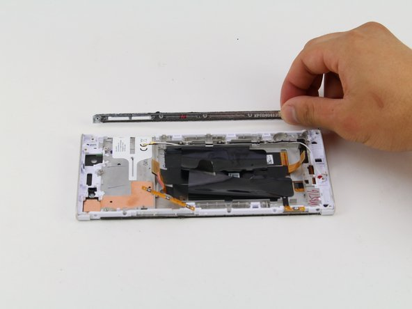 Remove the SD card side panel from the device by grabbing the SD card side panel with your hands and sliding the SD card side panel away from the device.