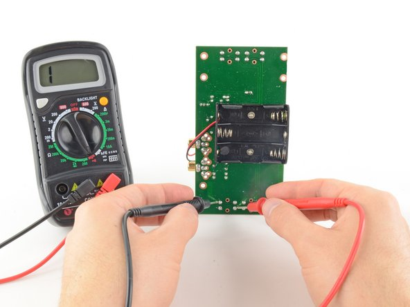 As before, if your circuit is continuous, the screen displays a value of zero (or near zero), and the multimeter beeps.