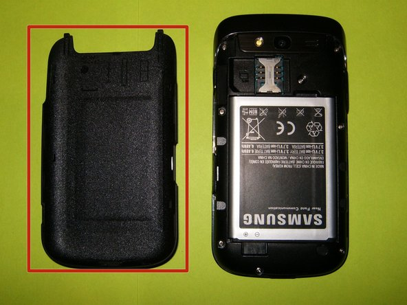 the battery and the SIM card if your phone has one.