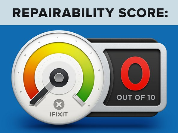 AirPods repairability score: 0 out of 10 (10 is the easiest to repair). Here's why: