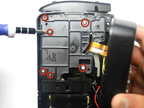 Use Phillips #00 screwdriver to remove six screws