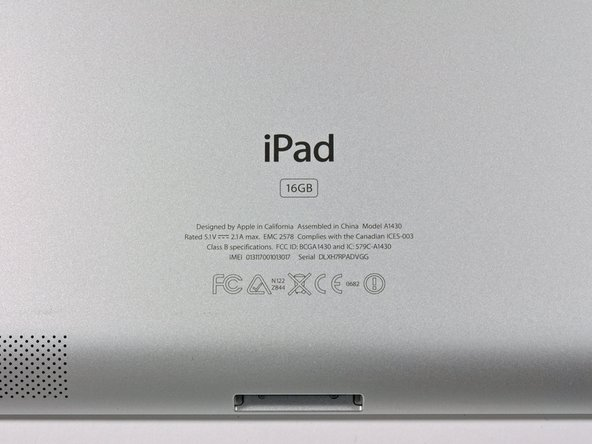 Image 2/2: Luckily for everybody, the model number is unique, unlike some of Apple's [[Topic:MacBook Pro|other]] products. The model number is A1430.