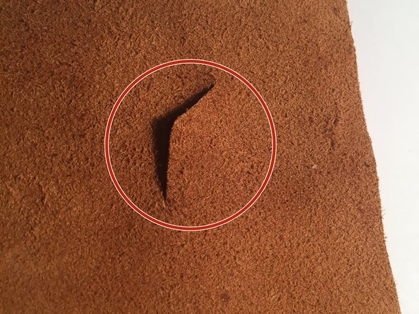 Turn the leather to the part that is not visible when using or wearing.