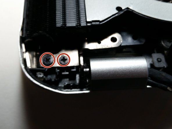 Remove the screws from each hinge.
