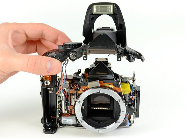 Removing the top cover from the Nikon D5100