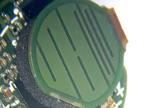 Closeup view of top and bottom side of the Touch Sensor Flex PCB and Antenna