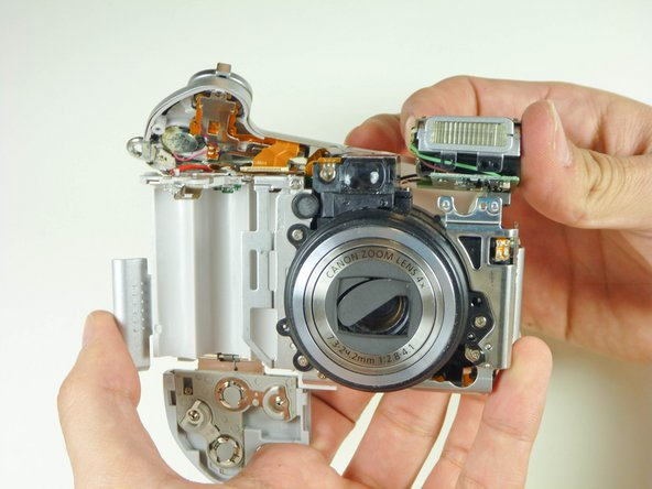 Remplacement du flash Canon Powershot A610