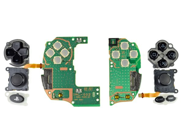 Image 2/2: The PS Vita control interfaces are separated into several small pieces, further enhancing repairability of this device.