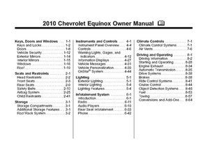 2010 Chevrolet Equinox Owner Manual