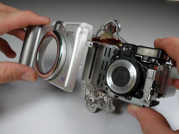 Remplacement du capot avant du Canon PowerShot A80