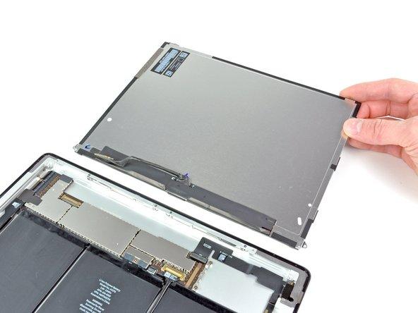Entferne das LCD von der hinteren Gehäuseteil Einheit.