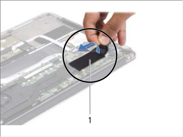 Adhere the tape over the solid-state drive.