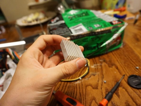 Heat sinks are used to disperse heat, as they have a large surface area to pawn the heat off to the air around it