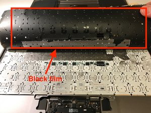 SOLVED: Black insulation foil under the keyboard  - Retina