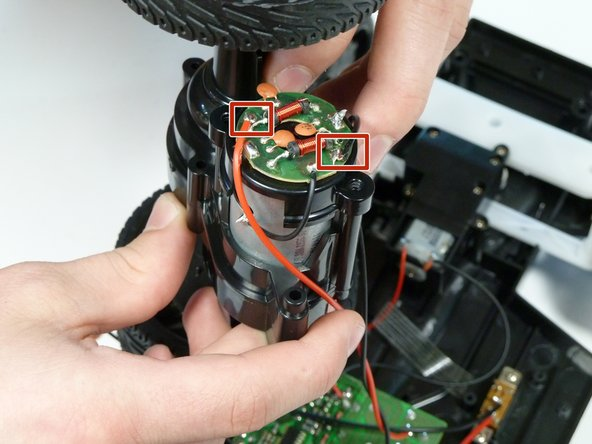 Use a soldering gun to remove the attached wires