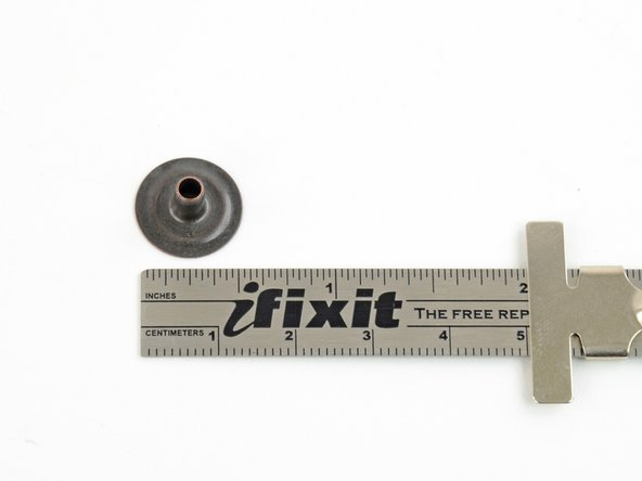 Image 2/2: If you're unsure of the correct size, measure a snap on the piece that you are repairing for reference.