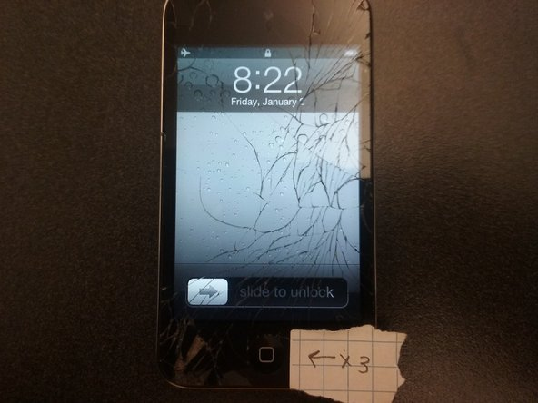 Unlock an iPod Touch 4th Gen with a damaged screen.