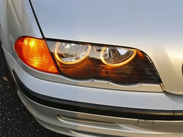Test everything to make sure the BMW switchback LED halo rings work. Put everything back.