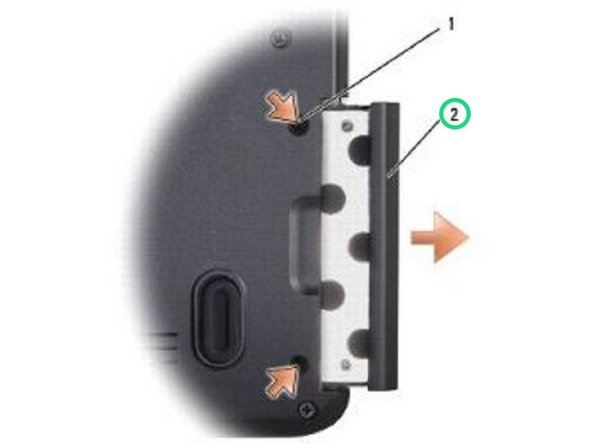 NOTICE: Use firm and even pressure to slide the hard drive into place. Excessive force may result in damage to the connector.