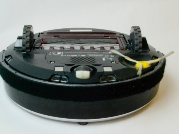 Start by powering down the device to remove the battery from the iRobot Roomba 860.