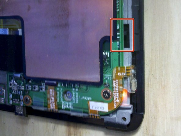 The Asus Transformer series tablets have a hard power switch. This should be turned off before working on the tablet.