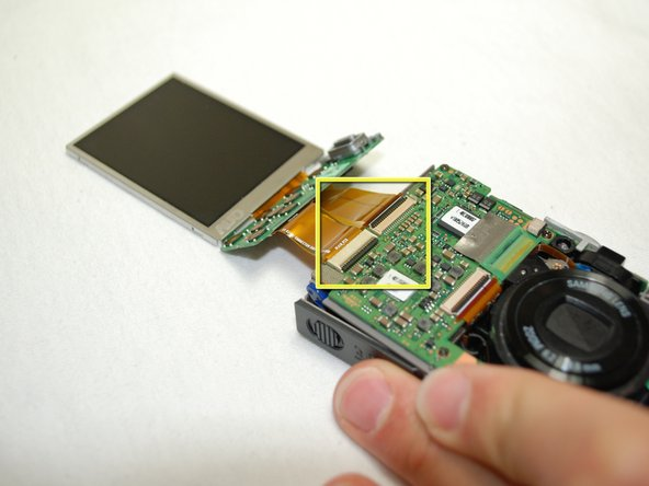 Image 2/2: Your new LCD Screen should be connected to the camera now.