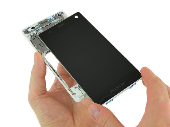 Removing the display assembly is simply a matter of flipping the switches and sliding the panel out.