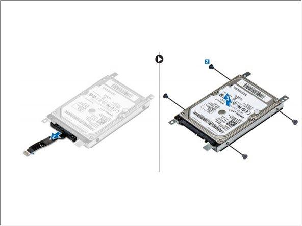 Reemplazo del soporte del disco duro Dell Vostro 15 3568