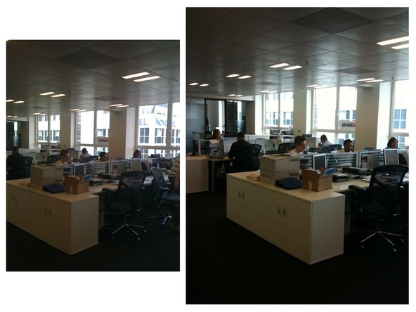 Image 2/3: In each image, the left photo is from the iPhone 3G, the right photo is from the iPhone 3GS.
