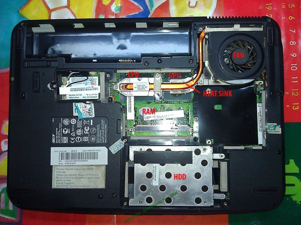 Image 1/2: We can maintain the ventilation system without removing RAM, HDD, Wifi Card, keyboard like other models.