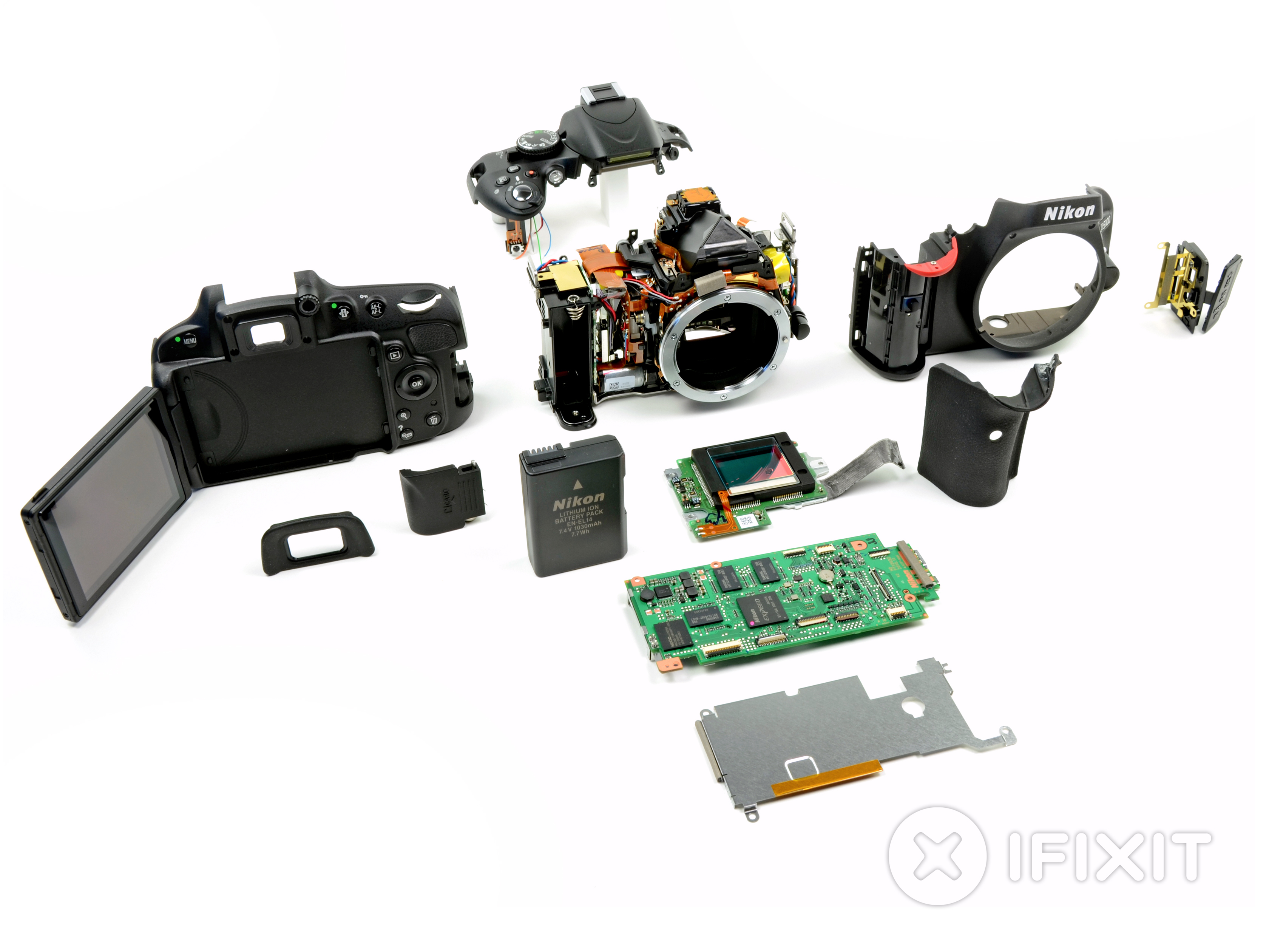 Nikon D5100 Teardown Ifixit Where To Get Parts Diagram For A D5000 Slr With Dx Vr Afs