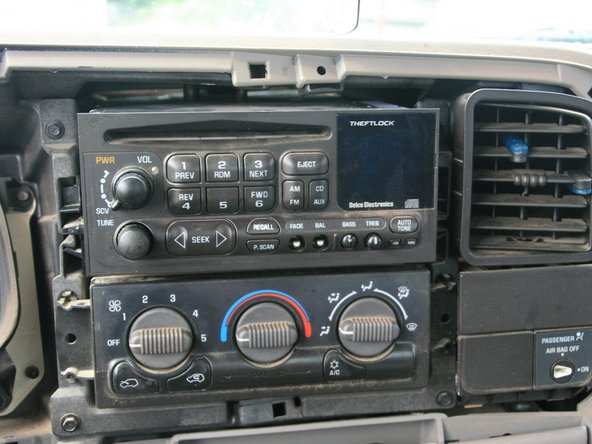 Remove the radio from its place.