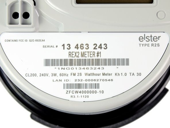 Our Elster REX2 smart meter is labeled as Type R2S. The 2S model has an operating voltage rating of 240 V ranging from 192 V to 288 V at a nominal frequency of 60 Hz.