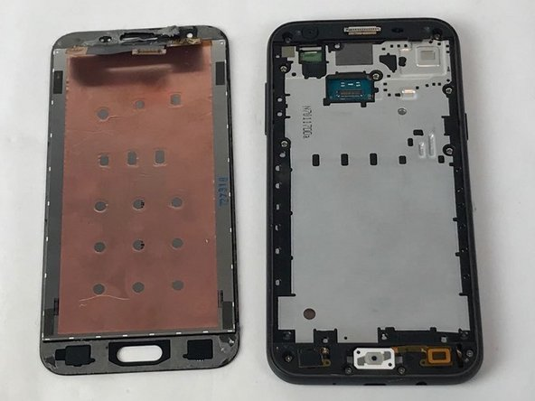 Attach new phone screen in place of the old one.