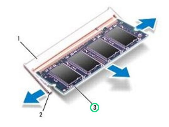 Remove the memory module from the memory-module connector.